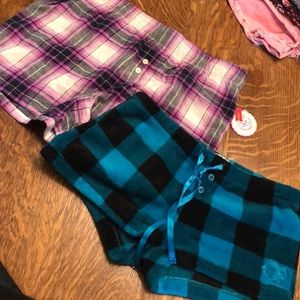 Two pajama shorts